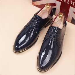 Men Dressed Red Shoe Australia - New Arrival Trend Men Red Leisure Dress Shoes PU Leather Round Toe Casual Lace White Wedding Party Dance shoes da1