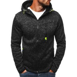 $enCountryForm.capitalKeyWord Canada - 2018 New Autumn Fleece Hoodies Men Fashion Solid Sweatshirts Zipper Cardigan Cotton Sportswear Slim Fit Men's Tracksuit 3XL