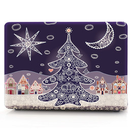 Macbook Retina 13 Inches Australia - christmas-tree Oil painting Case for Apple Macbook Air 11 13 Pro Retina 12 13 15 inch Touch Bar 13 15 Laptop Cover Shell