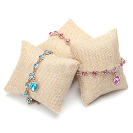 $enCountryForm.capitalKeyWord NZ - fashion linen bracelet sponge bangle pillow cushion for jewelry display Wrist Watch Jewelry Display Holder Showcase