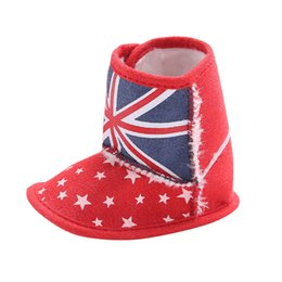 d9a021599 Baby Winter Boots For Girls Infant Toddler Baby British Flag Union Jack  Soft Sole Boots Crib Shoes Botas Nina