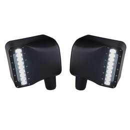 Car Led Side UK - Car White Sidelight Rearview LED Side Mirror Yellow Turn Signal Light For Jeep Wrangler JK Jku