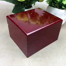 Square red Storage box online shopping - Luxury Fashion Wood Box for Watch certificate Top Gift Jewelry Bracelet Bangle Boxes Display red Spray paint Storage Case Pillow