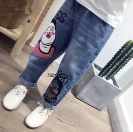 f492032e5984 6 Fotos Korean women summer casual trousers   venda-MENINA JEANS2018 Novo  Padrão Crianças Calças Coreanas Na