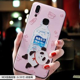 $enCountryForm.capitalKeyWord NZ - Chinese panda mineral water Cartoon painting embossed Relief case For VIVO NEX X23 cover FOR X21i X21 CASE
