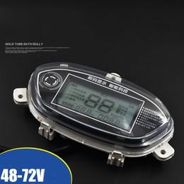 Großhandel Elektroauto-LCD-Bildschirm-Meter 48v60v72v Leistungsgeschwindigkeits-Entfernungsmesser-Anzeige-Code-Tabellen-Zubehör, Spitzen der niedrigen Batterie, voll ausgestattet