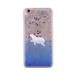 $enCountryForm.capitalKeyWord UK - Fashion Hot Cute Dynamic Polar Bear Cartoon Pattern Quicksand Liquid Glitter Bling PC 3D Dual Phone Case Cover For iPhone 6 6S 7 8 Plus X