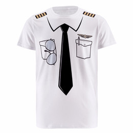Wholesale pirate clothes for sale – halloween New Men Pilot Police d T Shirt Doctor Gentleman Adult Funny Party Cop Punpkin Pirate Sailor Santa Claus Carnival Cosplay O Neck Clothes