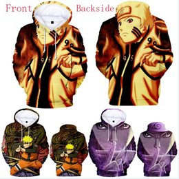sweatshirt hoodies Canada - Hot Anime Hooded Pullover Uzumaki Naruto Sweatshirts Men 3D Hoodies Sweatshirts Male Long Sleeve Outwear Tracksuits