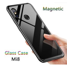$enCountryForm.capitalKeyWord NZ - Magnetic Adsorption Case for Xiaomi Mi 8 Clear Tempered Glass Back Full Body Slim Fit Ultra-Thin Case Lightweight Transparent Magnet Case