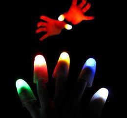 $enCountryForm.capitalKeyWord Australia - hot party bar toy Funny Novelty Light-Up Thumbs LED Light Flashing Fingers Magic Trick Props Amazing Glow Children Kids Luminous Gifts A689