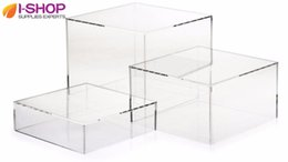 Wholesale Durable Acrylic Display Risers Acrylic Box Display for Shop Retail Store