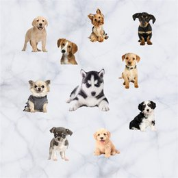 Vinyl for wall art online shopping - Home Decor Wall Sticker Simulation Cartoon Animal Dog And Cat Art Waterproof Removable Stickers Pvc Translucent Shader mt jj