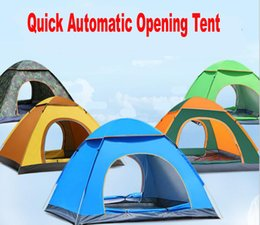 $enCountryForm.capitalKeyWord NZ - 3-4 Person Outdoor Tent Quick Automatic Opening Single Layer Camping Tent Two Door Anti UV Tourist Tent for Camping Picnic