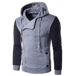 Discount oblique jacket fashion - Autumn & Winter Oblique Zipper Casual Slim long sleeve hiphop Assassin Creed Hoodies Sweatshirt Tracksuit Outerwear Jack