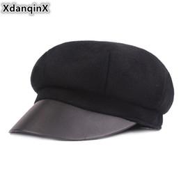 f8f6b957 Wool Newsboy Caps Men NZ - XdanqinX Winter Women's Hat Warm Wool Newsboy  Caps Elegant Trend