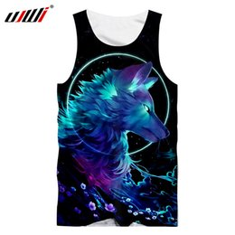 $enCountryForm.capitalKeyWord NZ - UJWI 2018 Summer Tops Man Hip Hop Sportwear Gyms Tank Top Cool Print Galaxy Space Wolf 3D Singlets Man Workout Exercise Shirts