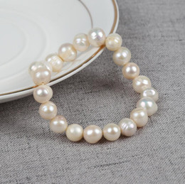Discount pink pearl fashion jewelry set - 2018 New Natural Freshwater Pearl Bracelet White Pink Purple Natural Pearl Strands Bracelet Women Fashion Jewelry