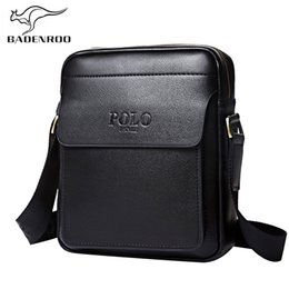 business casual polo 2019 - Badenroo Genuine Leather Polo Men Shoulder bags Classical Messenger Bag Cross Body Bag Fashion Casual Business Handbags