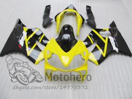 F4i Fairings Australia - New 100% Fit Injection molding for HONDA CBR 600 F4i fairings 2004 2005 2006 2007 CBR600 F4i bodyworks 04 05 06 07 F4i Black Yellow J324