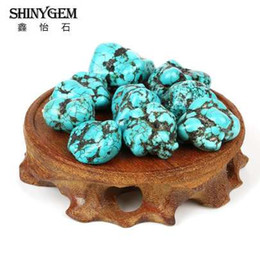 China 20pc 20-25mm Irregular Natural Stone Gravel Beaded Turquoises Beads For Necklace Bracelet Craft Making Findings suppliers