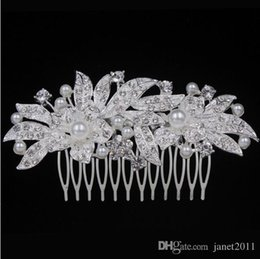 $enCountryForm.capitalKeyWord Australia - Wedding Hair Comb - Silver Tone Rhinestone Flowers Jewelry Head Pieces Party Hair Accessories For Girls Ladies