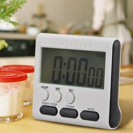 Lcd Kitchen Clock Australia - Multifunctional Home Electronic Timer Practical Kitchen Timer Alarm Clock Home Cooking Supplies LCD Snooze Clock
