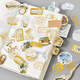 diary stickers labels 2019 - Creative DIY Cute Vintage gilding Travel Feather Flowers sticker Planner Sticker Scrapbooking Diary Label Stickers Stati