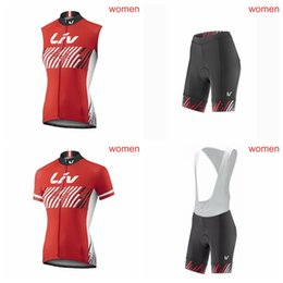 Vest Team Cycling Canada - LIV team Cycling Short Sleeves jersey (bib) shorts Sleeveless Vest sets The latest summer Sports Quick-drying Fashion Jersey Q50723