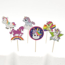 horse cupcake 2019 - 24pcs unicorn party horse paper cupcake toppers kids girls birthday party Dessert decoration supplies baby shower decor