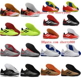 e138ca13542 2018 new arrival mens soccer cleats low ankle Predator Tango 18.4 TF indoor  soccer shoes IC football boots messi Tacos de futbol