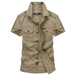 d4cf023fcdf Plus Size M -5xl Summer Men  S Casual Brand Short Sleeve Shirt Man 100  %Pure Cotton Afs Jeep Khaki Shirts Army Green Clothing