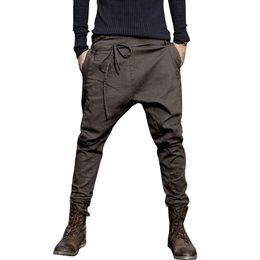Discount men flat crotch - Men Harem Pants Fashion 2018 Casual Pants Men Trousers Low Crotch Pant Joggers Feet hanging crotch