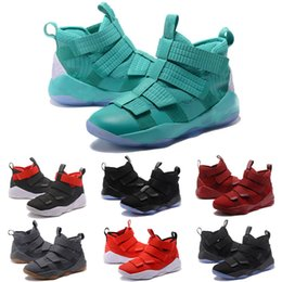 ef14a30ba468 2018 NEW lebron soldier 11 Basketball Shoes for Men ZOOM 11s EP Sports Training  Sneakers AAA Quality Court General designer shoes XI Size