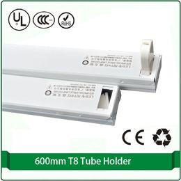 T8 Tube Light Holder NZ - 5 pcs   lot Free shipping T8 metal light base tube holder 60cm fixture