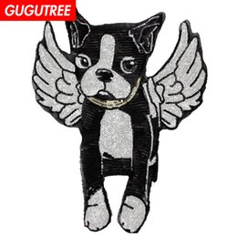 $enCountryForm.capitalKeyWord UK - GUGUTREE embroidery sequins big dogs patches animal patches badges applique patches for clothing BP-296