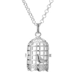 China Disffuser Necklace bird cage cone pearl accessories Locket Essential Oil Diffuser Necklaces Hollow out Locket Cage Pendant Necklace 2018 cheap necklace cone suppliers