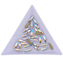 $enCountryForm.capitalKeyWord UK - Shaped Crystal AB Raindrop rose gold nail rhinestones glass flat back 3d nail art decoration marquise diamond charms for nails