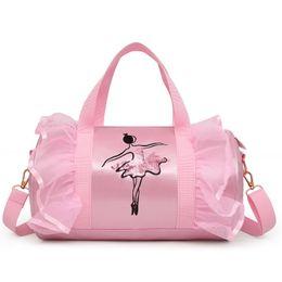 Wholesale Best Deal Kids Pink Barre Ballet Handbag Girls Bags for big kids Children Accessories Pink bag gifts for girls