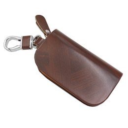 Chinese  car key covers wholesale Top Layer Leather Bag holder keychain Cover for mazda LADA bmw e39 e46 Ford Buick VW chevrolet cruze Bens manufacturers