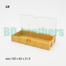 Smt Tools Australia - Original 4# Yellow Component storage box Square IC Components Boxes SMT SMD Wentai Boxes Combination Tool Plastic Case 50pcs lot