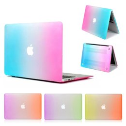 Laptop Ultra Thin Australia - Protector Hard Laptop Case Fashion Rainbow Style For MacBook Air 13-inch Ultra Thin PC Matte Case