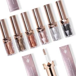 Metallic 3d online shopping - YANQINA Masonry Liquid Eyeshadow Makeup D Highlight Glitter Women Metallic Shining Eye shadow Pro Eye Base Makeup