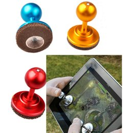 Wholesale 2pcs Mini Arcade Game Controller Mobile Phones Screen Joystick Joypad for iPad Touch Tablet Smartphone Rocker Small Size Stick