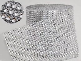 "$enCountryForm.capitalKeyWord NZ - 10yard roll 4.75"" 24 Rows manmade Diamond Mesh yards wrap Rhinestone Ribbon Crystal trim Wrap sparkle bling ribbon Wedding Decoration"