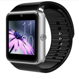 Discount smart watch support apple ios compatible - 2018 Newest Smart Watch GT08 Clock Support Sync Notifier Sim Card Bluetooth Connectivity for Android Apple iphone Phone