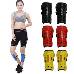 competition football NZ - Safety Football Shinguard Legs Protector Sports Cycling Professional Leg Competition Soccer Shin Guard Pads Support FBA Drop Shipping G901Q