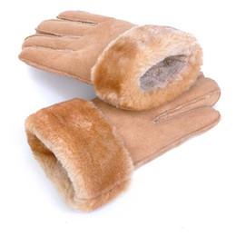 Leather snowboard gLoves online shopping - Winter Gloves Men Thicken Warm Snow Snowboard Cashmere Male