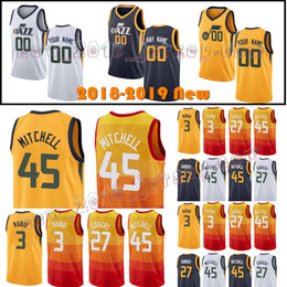 Men s Utah 45 Donovan Mitchell jazz 3 Ricky Rubio 27 Rudy Gobert 2 Joe  Ingles 12 John Stockton 32 Karl Malone Basketball Jerseys 11a344c5c