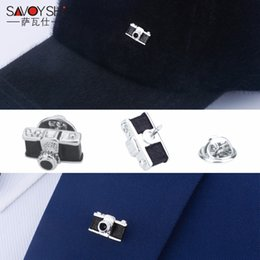 Discount fine men - SAVOYSHI Vintage Camera Shape Men Lapel Pin Brooches Pins Fine Gift for Mens Fashion Brooches Collar Party Engagement Je